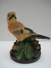 Decorative bird figurine, The country bird collection, The Jay, hand painted