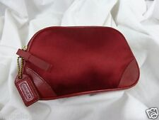 COACH Vintage Satin Small Cosmetic Bag Case Red ~ RARE/HTF!