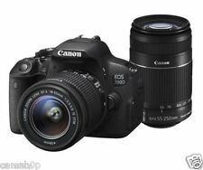 Canon EOS 700D with EF S18 - 55 mm IS II and EF S55 - 250 mm IS II DSLR Camera