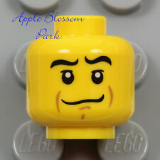 NEW Lego City Police Agents MINIFIG HEAD Smirk Grin Smile Pirate Male Boy Knight