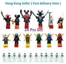 24pcs Set Ninjago Building Toy Super Hero Minifigs Kai Cole Jay Sensei Fits Lego