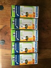 5 x New Philips Genie 8W/40W Energy Saver Light Bulbs Bayonet Cap