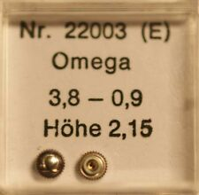 Omega CORONA IN ACCIAIO INOX Ø 3,8mm altezza 2,15mm Stem Ø 0,9 part no. 22003 ~ NOS ~
