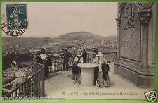 CARTE POSTALE HAUTE LOIRE 43 - LE PUY LA TABLE D'ORIENTATION MONT CORNEILLE 1911