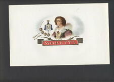LA5507 CIGARBOX LABEL , MORETTA, VICTORIAN DRESSED MAID, COLORED