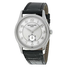 Patek Philippe Calatrava Automatic Silver Grey Dial Platinum Mens Watch