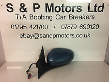 Jaguar X Type 01-10 NS Electric Wing Mirror 5 Wire Blue SBV2730