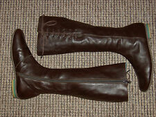 mint Camper soft brown leather long boots 37eu 4uk