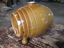 Ancien vinaigrier terre vernissée tonneau poterie ancienne french antique potery