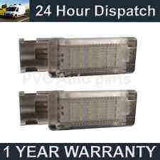 2X FOR VOLKSWAGEN PASSAT CC SCIROCCO POLO 18 WHITE LED FOOTWELL LIGHT LAMPS
