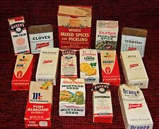 1960's Vintage Spices and Food Flavorings Lot of 15 Items with Original Boxes