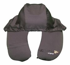 Skorch 2 in 1 Travel Pillow with Hoodie,Complete with ear Plugs,Phone Pouch