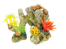 Classic Coral Stone Aquarium Ornament with Silicone Corals & Anemones 3060