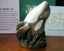 Harmony Kingdom One of a Kind V2 Orca Killer Whale UK Made Box Figurine NEW SGN