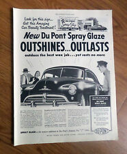1950 DuPont Car Wax Ad Chevrolet Dodge Pontiac Plymouth ?