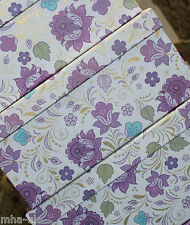 Purple/Lilac flower set of 5 large stacking keepsake storage gift boxes - home