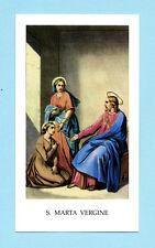 SANTINO S.MARTA VERGINE  IMAGE PIEUSE - HOLY CARD SANTINI