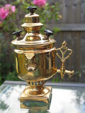 Antique 19th Russian Kuznetsov Gold Porcelain Samovar