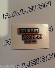 "RALEIGH CHOPPER MK1 ""STURMEY ARCHER ENGLAND"" GEAR CONSOL DECAL IN CHROME X 1"