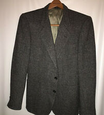 PIERRE CARDIN Men's Sports Coat 36S 2 Button Wool Dk. Gray Jacket Blazer
