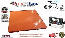 "5 Year Warranty 5000 lb x 1lb  40""x40"" Floor Scale Pallet Scale with Indicator"