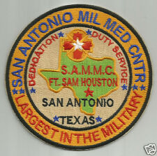 US ARMY POST PATCH, SAN ANTONIO MIL MED CNTR, S.A.M.M.C. FT SAM HOUSTON        Y