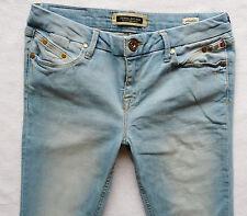 River Island Damas Jeans Tamaño 12 R Lavado a La Piedra Azul Super Skinny postes 32/32