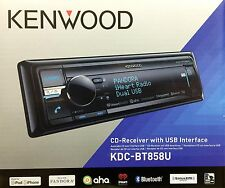NEW KENWOOD KDC-BT858U Single DIN Bluetooth CD/USB/MP3 Receiver