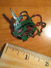 Mega M RAYQUAZA EX Metal PIN/BADGE Pokemon ROARING SKIES XY Collection 61-76-108