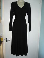 *NEW* BNWOT MARKS & SPENCER PER UNA BLACK CROSSOVER DRESS SIZE 12 BOW *EXCELLENT