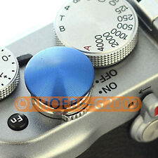 Blue Metal Soft Release Button for Leica Contax Fujifilm X100 size:L