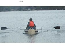 Row Outriggers for Canoe -- Rowing Beats Paddling -- Get Better Oar Leverage