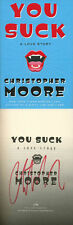 Christopher Moore SIGNED AUTOGRAPHED You Suck 1st Ed