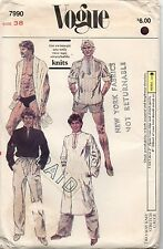 Vogue Sewing Pattern 7990 Men's Caftan Swim Suit Pants Shorts Top VTG Size 38 UC