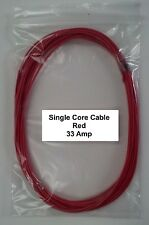 12V / 24V AUTOMOTIVE 5m LENGTH 33 AMP RED SINGLE CORE THIN WALL CAR BOAT CABLE