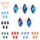 15/50pcs Charms 6x12mm Faceted Teardrop Pendant Beads Jewelry Findings 51 Colors