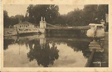 Tarjeta Postal BELLEZAS Y ENCANTOS DE ARANJUEZ. Puente Colgante sobre el Tajo.