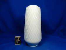 Unusual 70´s design ALKA relief porcelain vase geometric pattern  25 cm
