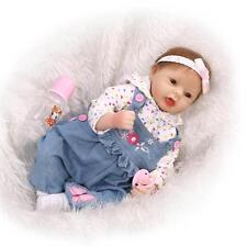 """21"""" Reborn Baby Doll Realistic Soft Vinyl Silicone Toddler Doll"""