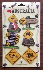Australian Souvenir Fridge Magnets Kangaroo Koala Road Signs NEW