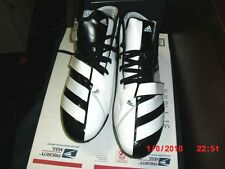 ADIDAS BLACK AND WHITE FOOTBALL CLEATS MADE IN CHINA MENS SIZE 16