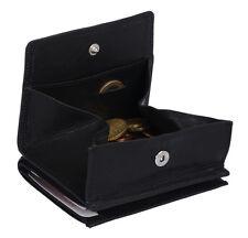 Caja de Viena formato de identificación Jockey Club en real-cuero, negro