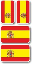 Vinyl sticker/decal Extra small 45mm & 35mm Spain crest flags - group of 4