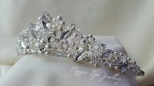 Bridal Tiara sparkly Swarovski crystals, pearls. Bride wedding bridal prom uk