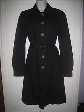 Atmosphere Size 14 42 Black Mac Lightweight Coat Party Evening Puffed Sleeves