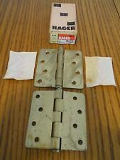 NOS HAGER RC1741 STEEL FULL MORTISE NON TEMPLATE BUTTS 4X4 DOOR HINGES