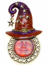 KIRKS FOLLY STELLA'S 20MM SEAVIEW MOON WITCH HAT PIN / PENDANT ~ NEW RELEASE ~