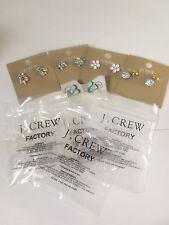 J.Crew Factory LOT OF 5 STYLES NWT White Turq Silver Gold
