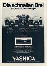 Yashica-FR-Contax-1978-Reklame-Werbung-camera print ad-Cámara Publicidad