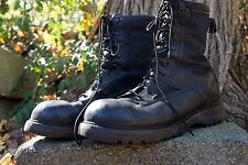 1990's Bates Gortex Black Leather Boots Men's Size 10 D Used - Good Cond